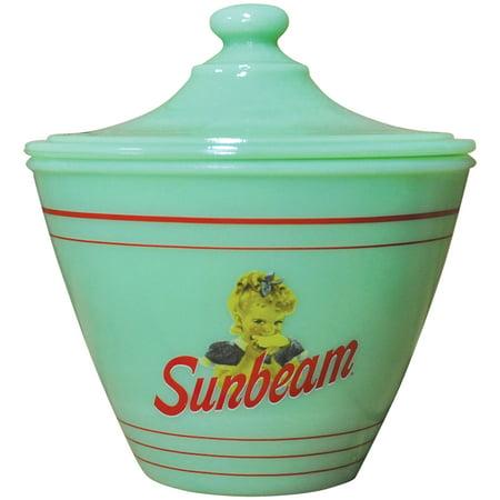 Sunbeam Jadeite Grease Jar - Vintage Look Collectible Depression Style Glass