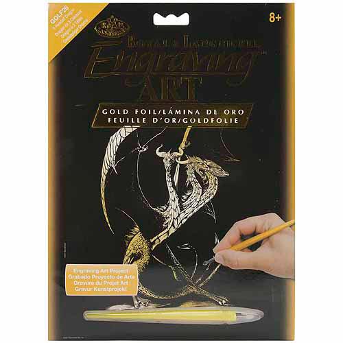 """Royal & Langnickel Gold Foil Engraving Art Kit, 8"""" x 10"""""""