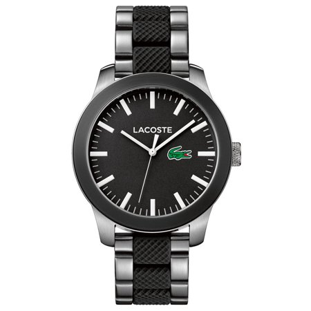 Lacoste 12.12 Mens Watch - Stainless Steel Case - Black Dial - 30m ()