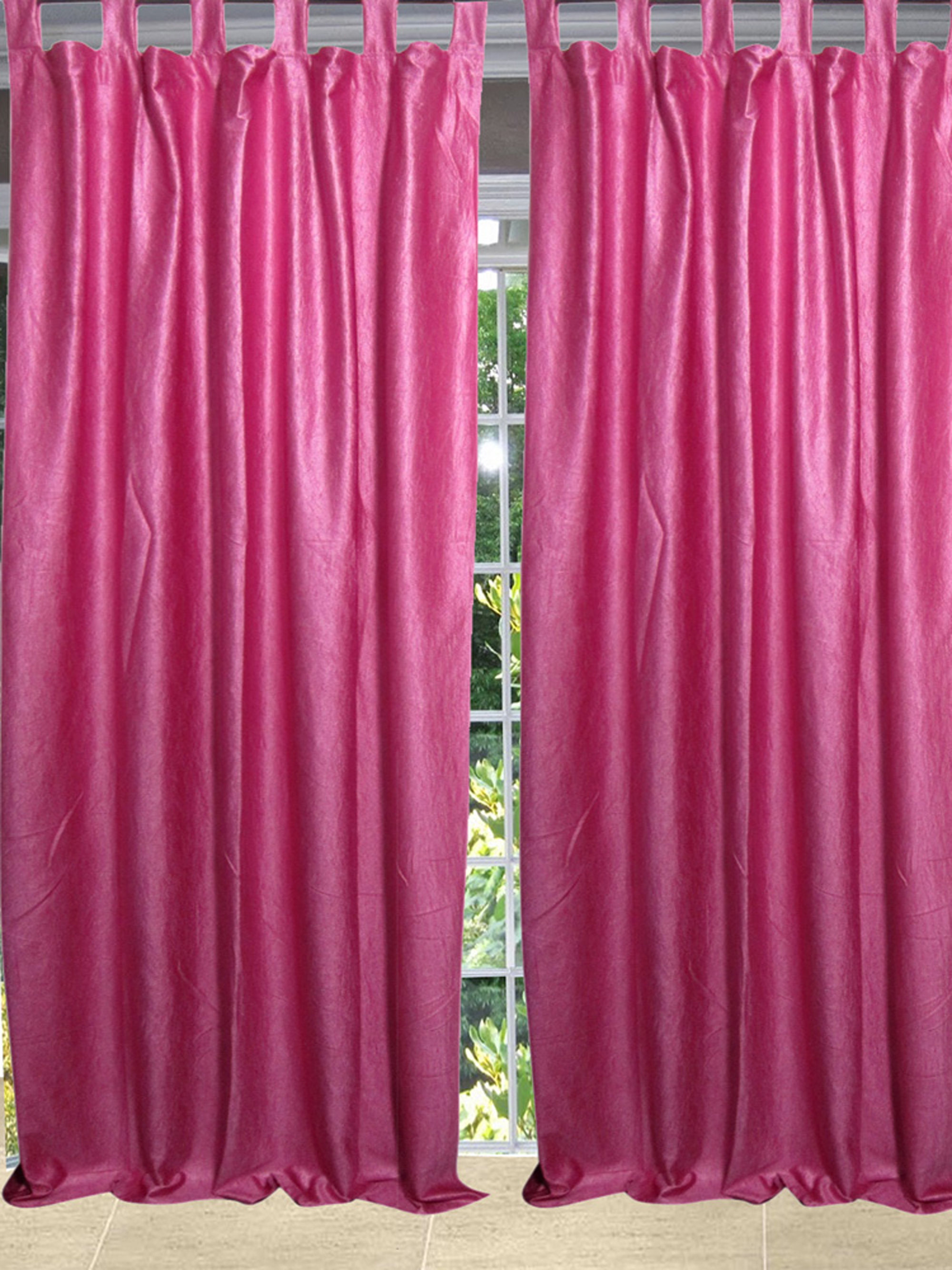 Mogul Curtain Pink Drape Single Panel Window Treatment Home Décor 48x96