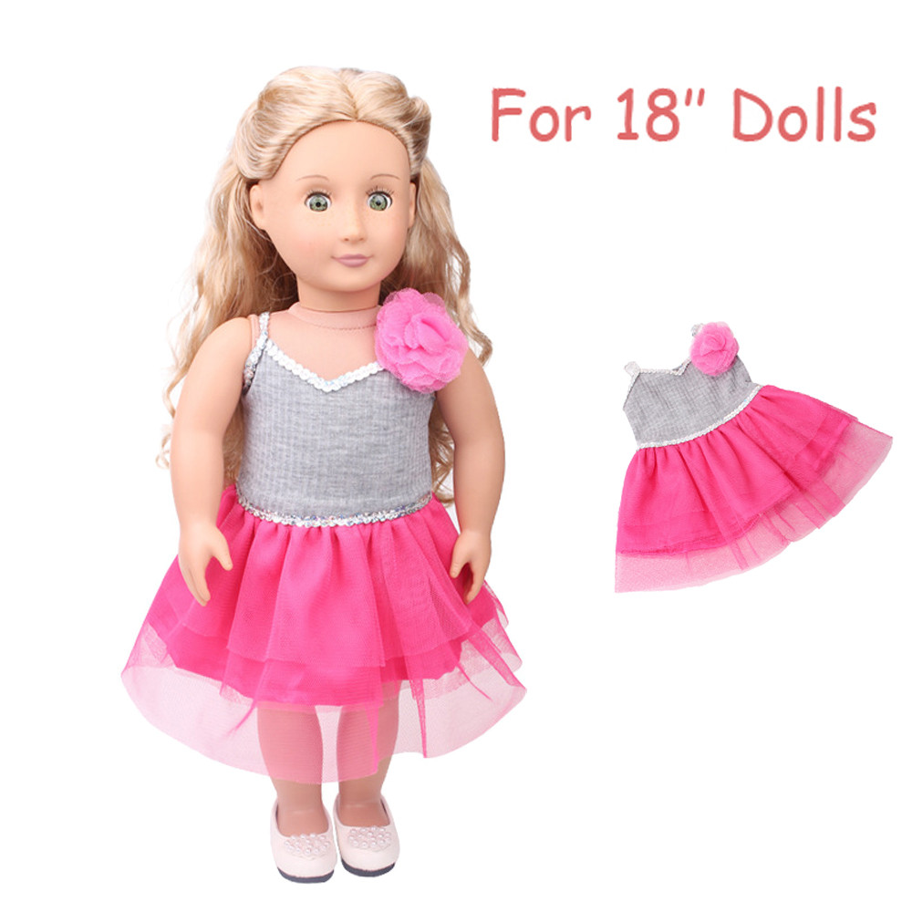 Mosunx Daily Costumes Doll Clothes Dress For 18 Inch American Girl Doll Accessory Toy