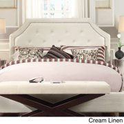 INSPIRE Q Grace Button Tufted Queen Size Fabric adboard with Nailad Trim by