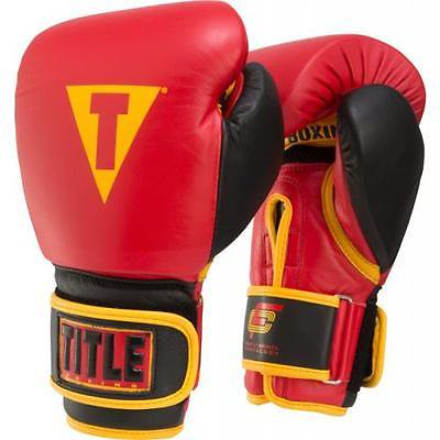Title Foam Channel Technology Bag Gloves Red/Black/Gold 14 oz