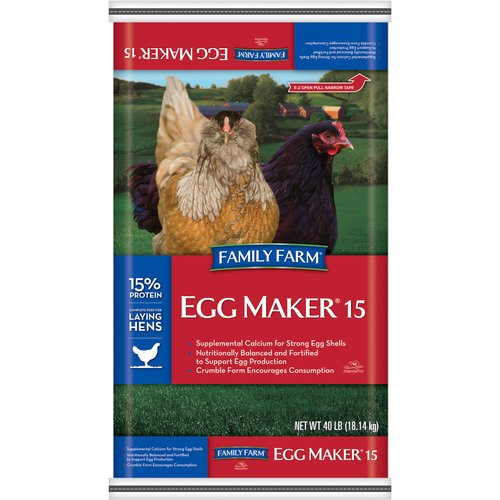 Family Farm Egg Maker Crumble Complete Animal Feed, 40 lb