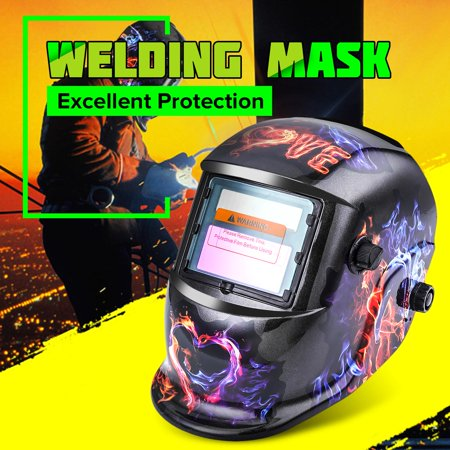 NASUM Welding Helmet -Welding Helmet Auto Darkening Professional Hood with Wide Lens Adjustable Shade Range,Weld Grinding Mask Protector for Arc Tig Mig MMA