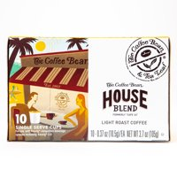 The Coffee Bean & Tea Leaf House Blend Light Roast Single Serve Coffee for Keurig Brewers, 1 Box of 10 (10 Total Pods)