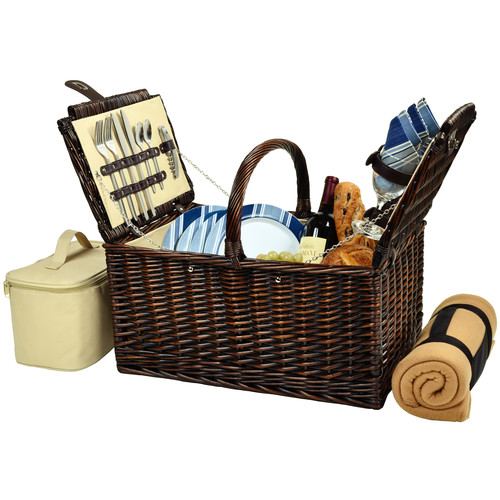 Picnic At Ascot Buckingham Basket with Blanket for Four
