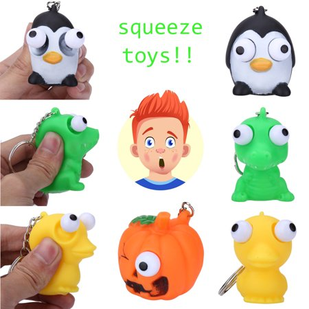 Mosunx Novelties Toys Pop Out Stress Reliever Lovely Animal Squeeze Vent Toys Gift Toy - Squeeze Pop
