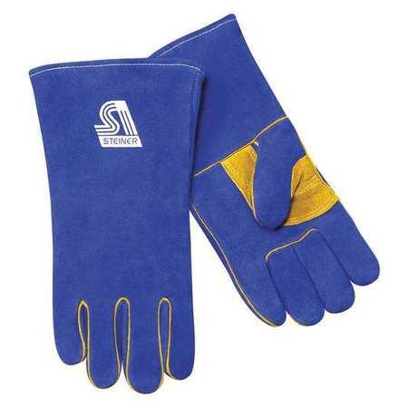 """STEINER Welding Gloves,Stick,14"""",L,PR 2519B-L"""
