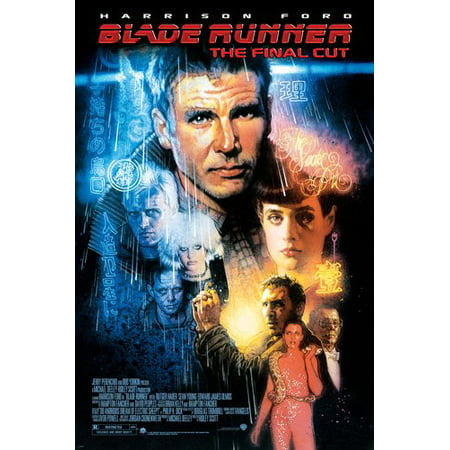 Blade Runner Movie Poster Harrison Ford Sean Young Sci-Fi Film Noir 24X36