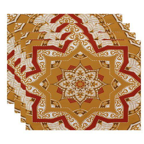 Bungalow Rose Meetinghouse Shawl Geometric Print Placemat (Set of 4)