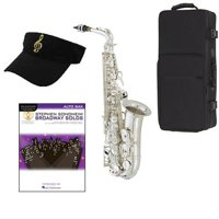 Broadway Solos Silver Saxophone Pack - Includes Alto Sax w/Case & Accessories, Broadway Solos Play Along Book