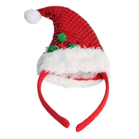 Sequin Santa Hat Headband