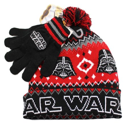 Star Wars Darth Vader Child Knit Hat & Gloves - Darth Vader Gloves Kids