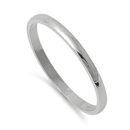 Women's Ring Tranditional Polished Stainless Steel Band New USA 2mm Size (Best New Progressive Rock Bands)