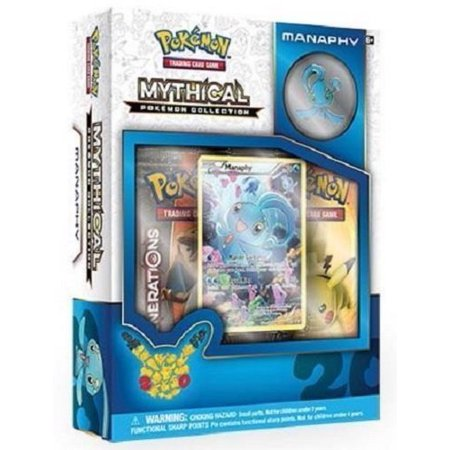 Pokemon Manaphy Mythical Collection Generations Booster Box Set - 2 booster packs + more! ()