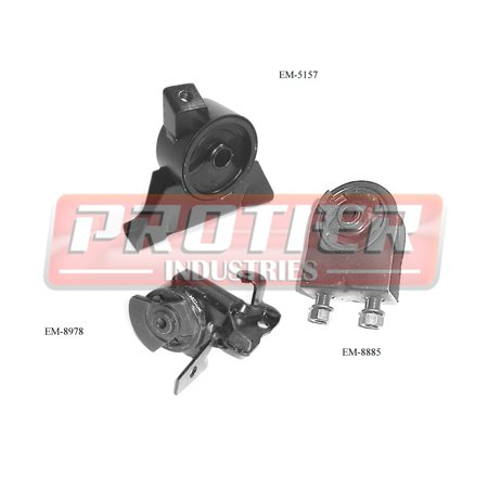 ENGINE MOTOR & TRANS MOUNT SET 1999-2003 MAZDA PROTEGE 1.8L/2.0L W/ AUTO TRANS ()