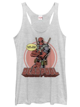 79efbd340f8 Product Image Marvel Women's Deadpool Whatever Racerback Tank Top