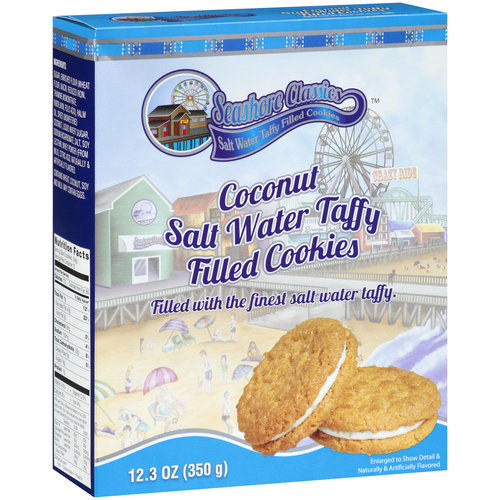 Seashore Classics Coconut Salt Water Taffy Filled Cookies, 12.3 oz