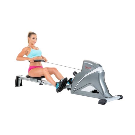 Sunny Health   Fitness Sf Rw5508 Ultra Tension Magnetic Pro Rowing Machine Rower W  Lcd Monitor