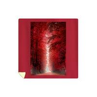 Autumn Pathway - Lantern Press Photography (88x88 Queen Microfiber Duvet Cover)