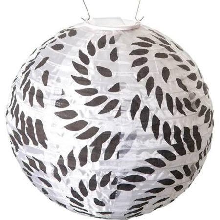 GlOW Solar Lantern, Black and White Print - Black Glow