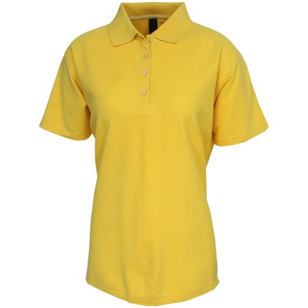 Page tuttle women 39 s pima cotton solid polo golf shirt for Ladies cotton golf shirts