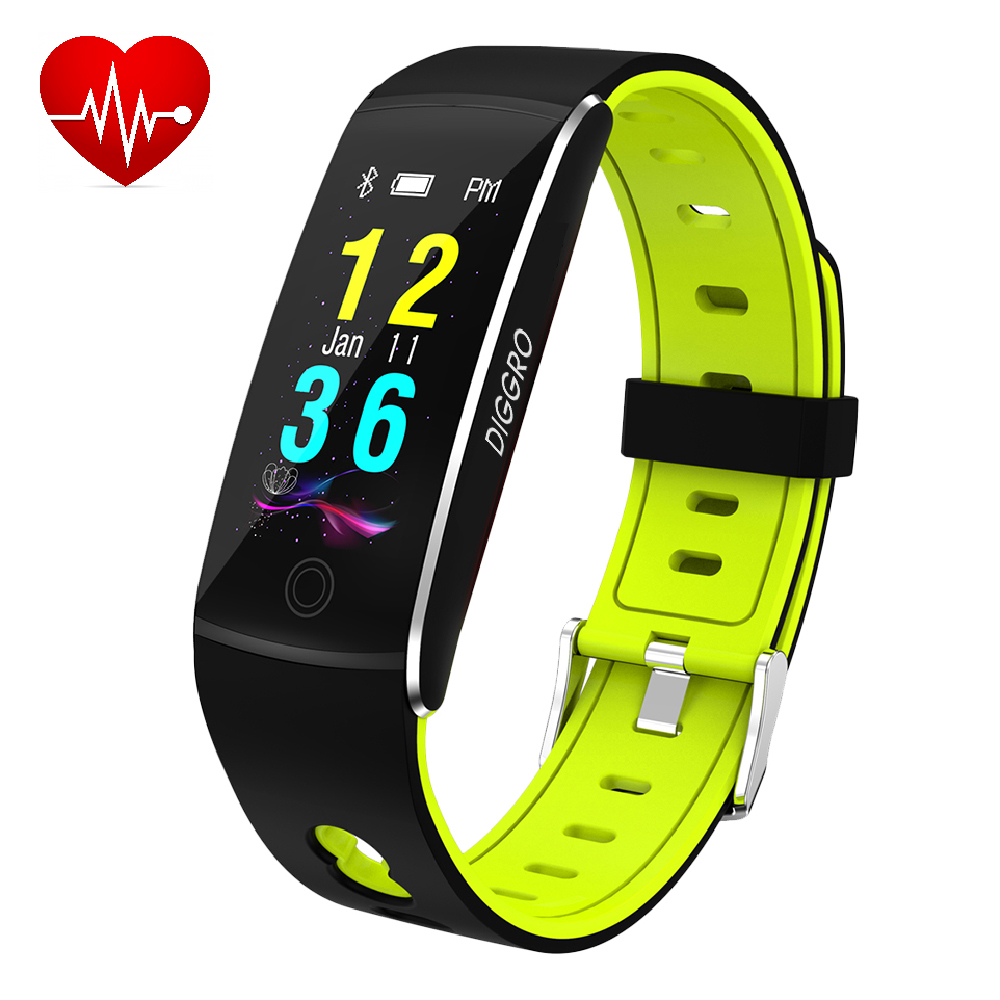 Fitness Tracker, Diggro F10 Smart Bracelet with Heart Rate IP67 Waterproof  Bluetooth 4 0 Sports Pedometer Sleep Monitor Call/SMS Reminder Sedentary