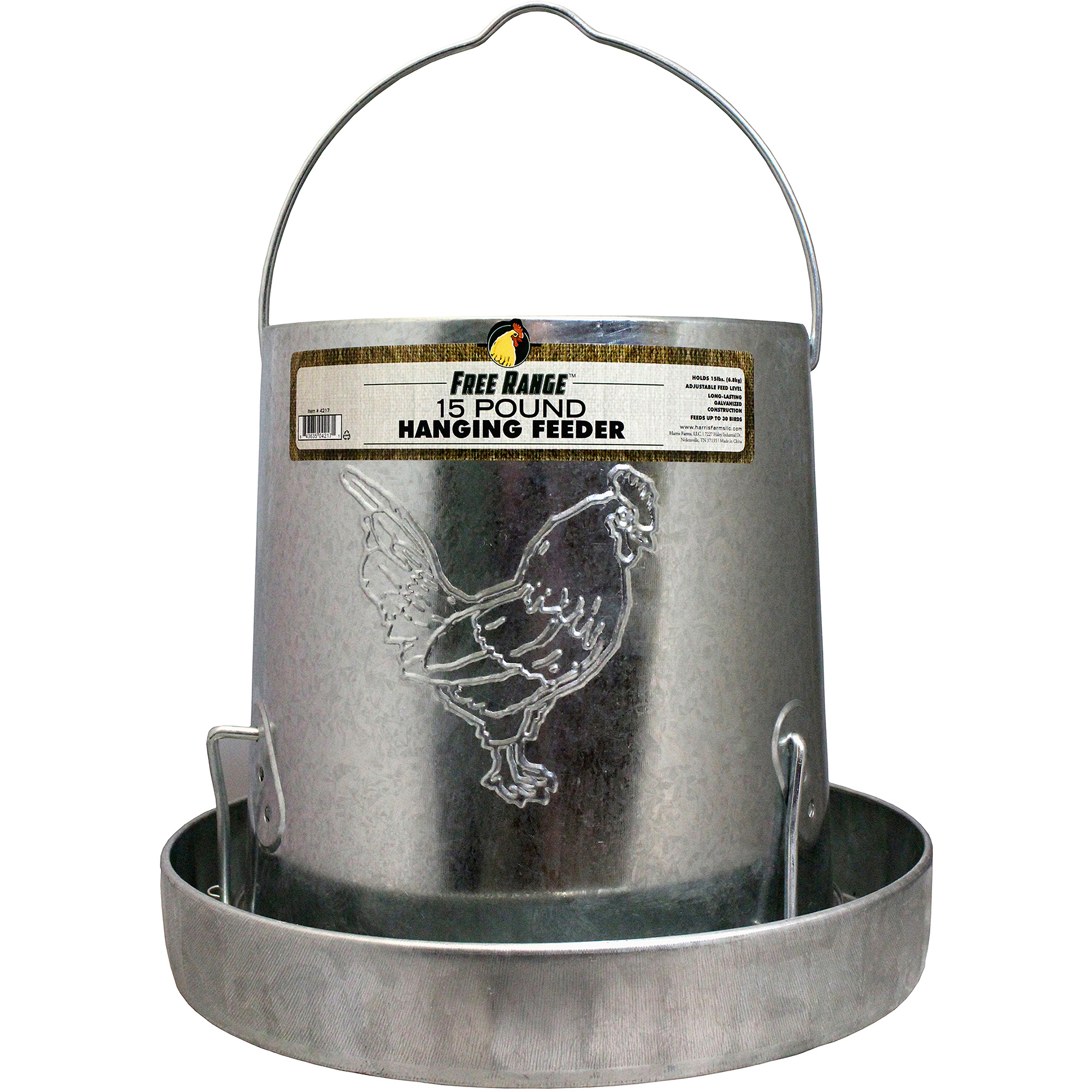 Harris Farms Llc Pet 4217 15-lb Hanging Metal Poultry Feeder