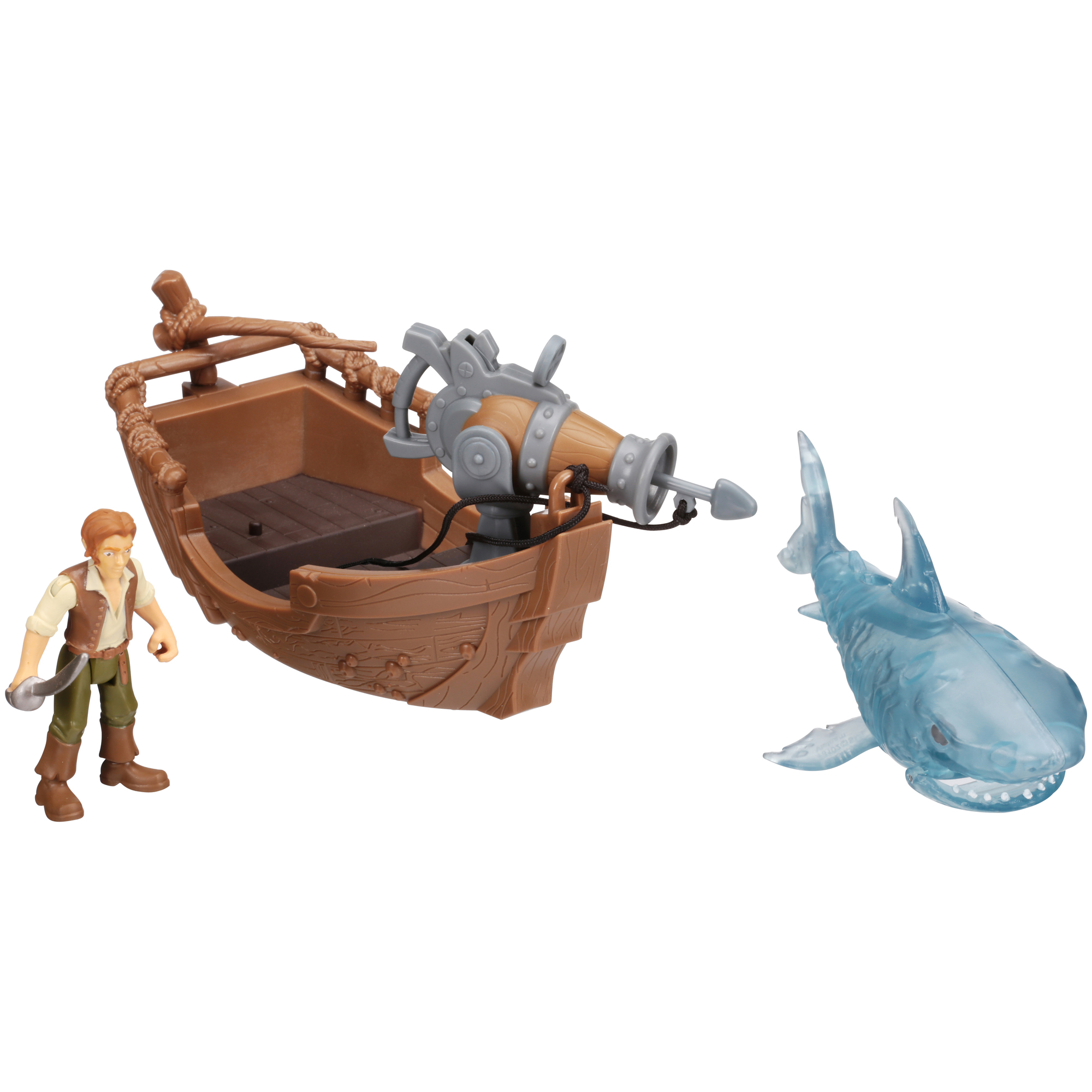 Disney Pirates of the Carribean Dead Men Tell No Tales Ghost Shark Attack Playset 3 pc Carded Pack