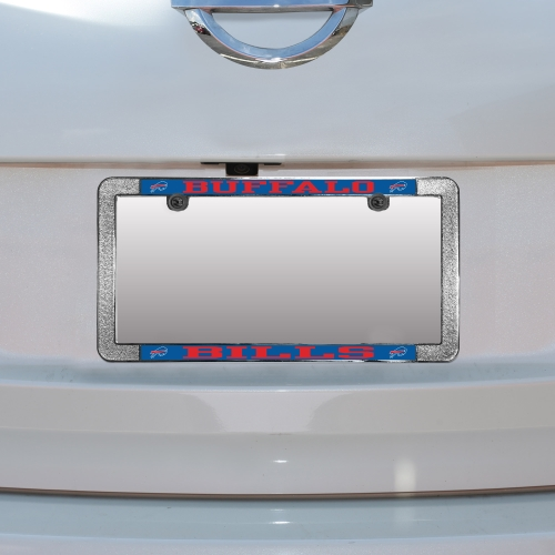 Buffalo Bills Metal Thin Rim Acrylic Laser-Cut License Plate Frame - No Size