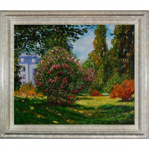 Wildon Home  ll Parco Monceau, 1876 by Claude Monet Framed Original Painting
