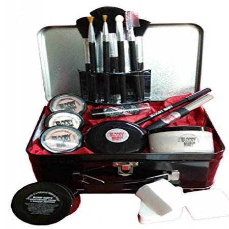 Bloody Mary Professional Theatrical Makeup Kit In Bloody Mary Lunch Box - Bloody Makeup For Halloween