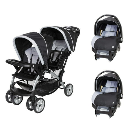 Baby Trend Sit N Stand Tandem Stroller + Car Seats (2) Travel System, (Baby Annabell 2 In 1 Travel System)