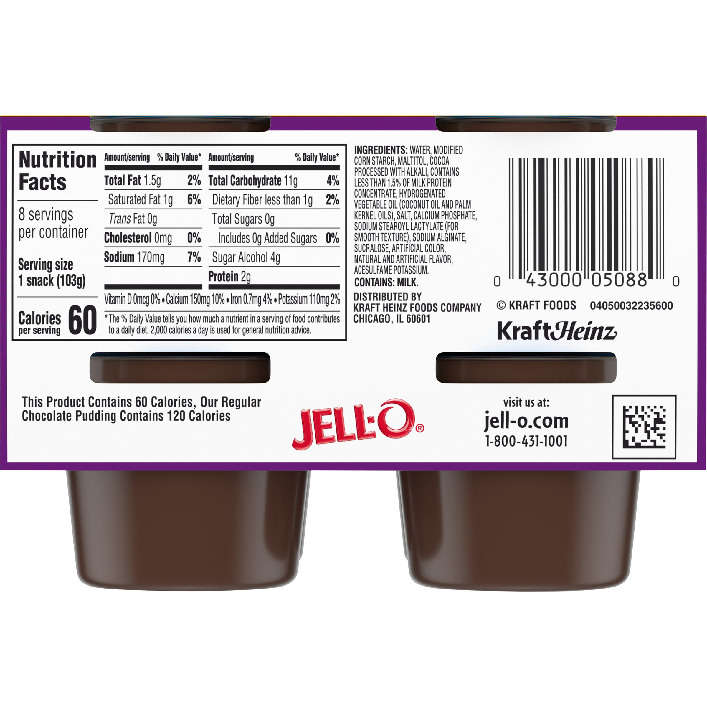 Jello Sugar Free Pudding Cups Nutrition Facts Nutritionwalls
