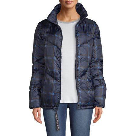 Kendall + Kylie Women's Plaid Puffer