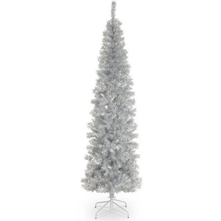 6' Silver Tinsel Tree 5 Foot Silver Tree