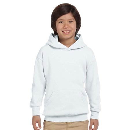 P473 ComfortBlend Youth Pullover Hood - White - X-Small