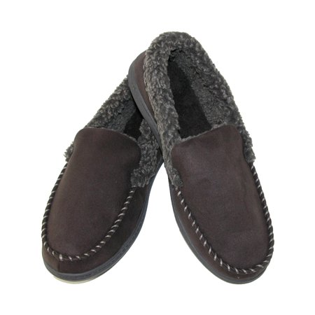Size  Small Men's Microsuede Moccasin Slippers with Memory Foam (Small Doggie Slippers)