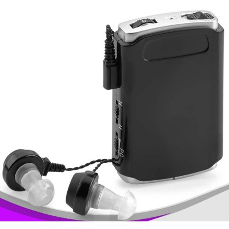 EDca Sound Amplifier - Pocket Sound Voice Enhancer Device with Duo Mic/Ear Plus Extra Headphone and Microphone Set, Personal Sound Amplifier (Dub Audio)