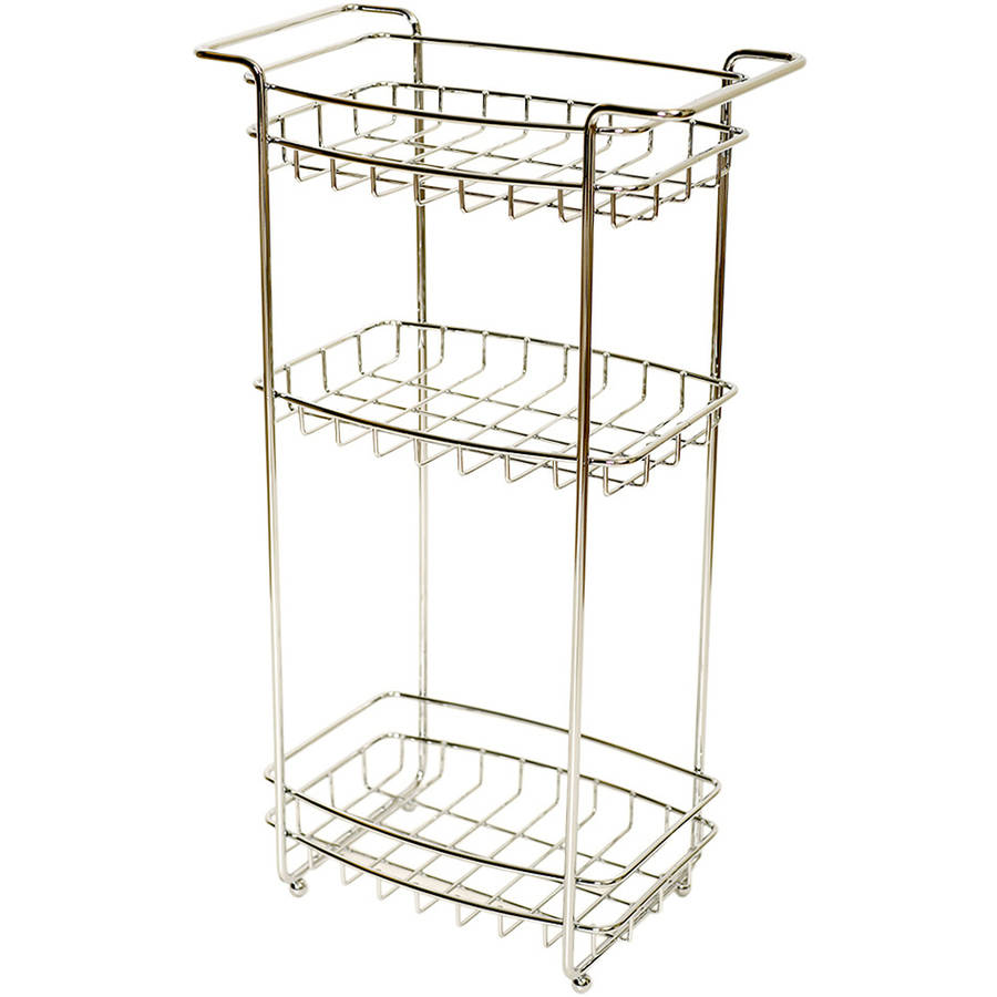 Zenna Home 2537SS01 Chrome 3-Tier Slimline Floor Stand