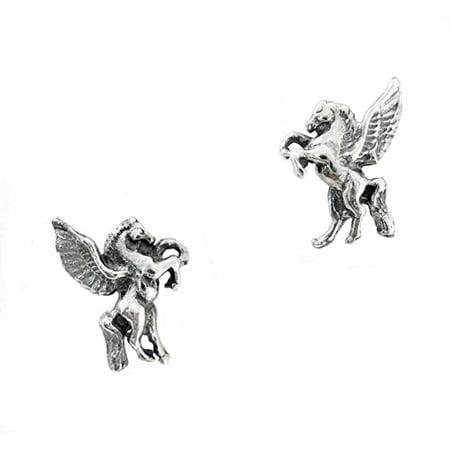 Sterling Silver Pegasus Stud Post - Pegasus Earrings