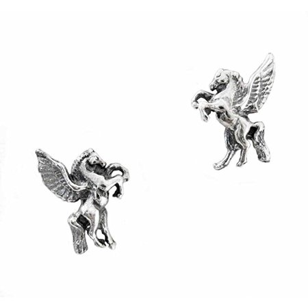 Sterling Silver Pegasus Stud Post - Pegasus Earrings