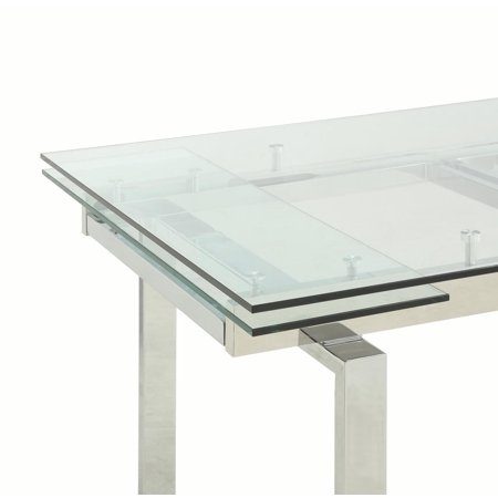 Coaster Company Contemporary Wexford Dining Table, Chrome ()