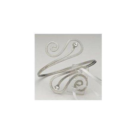Athena Silver Swirl Corsage Arm Band