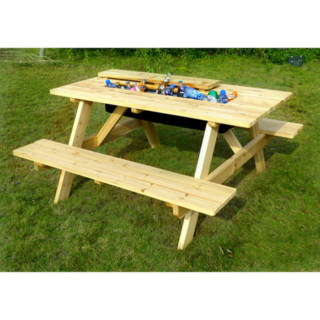 Wooden Picnic Table - Cooler Picnic Table Kit