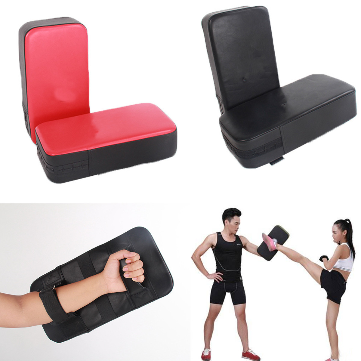 Kids Shield Pad Boxing Kick Pad Martial Art Karate MMA Focus MuayThai Punch Bag