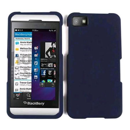 Cell Armor Snap-On Case for BlackBerry Z10 - Honey Navy Blue, Leather (Honey Leather Finish)