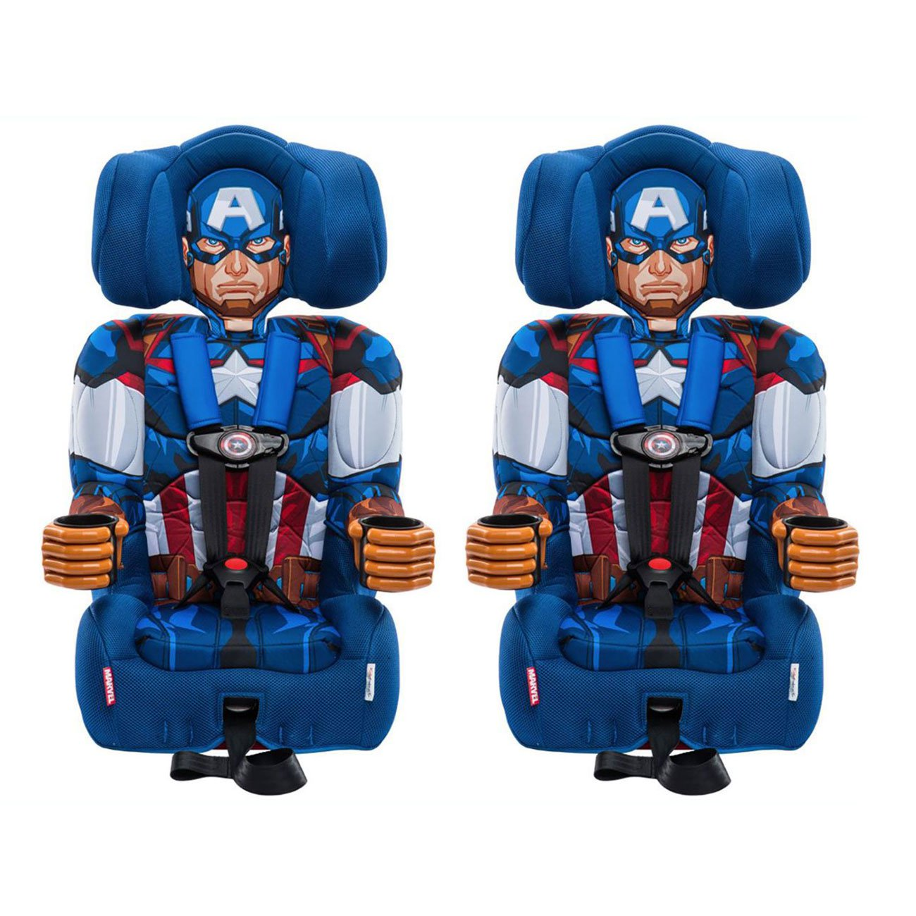Kids Embrace Marvel Avengers Captain America Combination Booster Seat (2 Pack) by KidsEmbrace