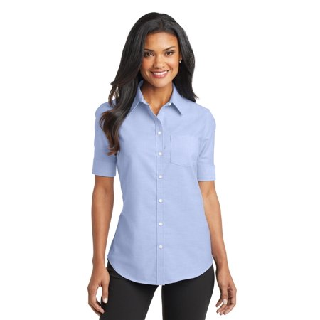 Port Authority® Ladies Short Sleeve Superpro™ Oxford Shirt. L659 Oxford Blue 4Xl - image 1 de 1